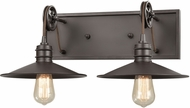 ELK 69085-2 Spindle Wheel Contemporary Oil Rubbed Bronze 2-Light Bathroom Wall Sconce