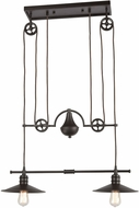 ELK 69088-2 Spindle Wheel Modern Oil Rubbed Bronze Island Lighting
