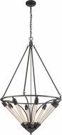 ELK 69226-8 Centrifugal Modern Oil Rubbed Bronze Drop Ceiling Light Fixture