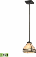 ELK 70201-1-LED Santa Fe Tiffany Bronze LED Mini Pendant Light
