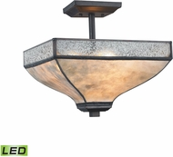 ELK 70202-3-LED Santa Fe Tiffany Bronze LED Ceiling Light