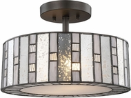 ELK 70213-2 Ethan Modern Tiffany Bronze Flush Mount Lighting Fixture