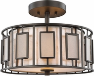 ELK 70251-2 Minden Modern Tiffany Bronze Flush Ceiling Light Fixture