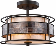 ELK 70261-2 Tremont Tiffany Bronze Flush Mount Ceiling Light Fixture