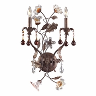 ELK 7043-2 Cristallo Fiore Rustic Floral 2-Light Wall Sconce
