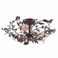 ELK 7046 Cristallo Fiore Rustic 2-3 Light Flush-Mount Ceiling Fixture
