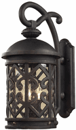 ELK 7202EW/71 Tuscany Coast Traditional Weathered Charcoal Exterior Wall Lamp