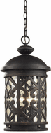 ELK 7203EH/71 Tuscany Coast Traditional Weathered Charcoal Outdoor Ceiling Light Pendant