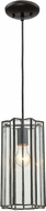ELK 72144-1 Rotterdam Contemporary Oil Rubbed Bronze Mini Pendant Lamp