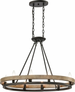 ELK 75055-8 Ramsey Contemporary Matte Black / Aspen Kitchen Island Lighting