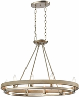 ELK 75065-8 Ramsey Contemporary Satin Nickel / Beechwood Kitchen Island Light