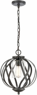 ELK 75094-1 Daisy Contemporary Midnight Bronze Mini Drop Ceiling Light Fixture