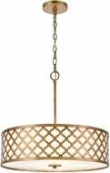 ELK 75137-4 Arabesque Bronze Gold Drum Pendant Lamp