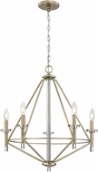 ELK 81202-5 Lacombe Contemporary Aged Silver 24  Chandelier Light