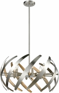 ELK 81255-6 Carthage Contemporary Satin Nickel Pendant Light