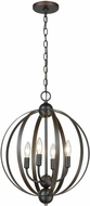 ELK 81264-4 Duvoux Modern Oil Rubbed Bronze 17  Lighting Pendant