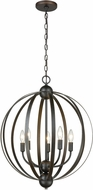 ELK 81265-5 Duvoux Contemporary Oil Rubbed Bronze 21  Pendant Lamp