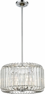 ELK 81324-4 Beaumont Polished Chrome 17  Drum Pendant Light Fixture