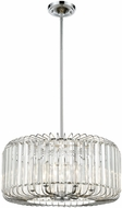 ELK 81325-6 Beaumont Polished Chrome 21  Drum Pendant Lighting Fixture