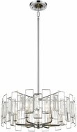ELK 81374-6 Crosby Polished Chrome 20  Drum Pendant Hanging Light