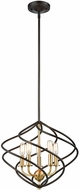ELK 81396-5 Iredell Modern Oil Rubbed Bronze / Satin Brass Ceiling Light Pendant