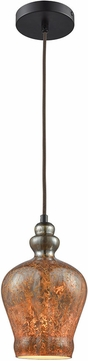 ELK 85100-1 Sojourn Contemporary Oil Rubbed Bronze Mini Pendant Light Fixture