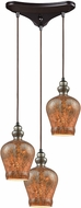 ELK 85100-3 Sojourn Modern Oil Rubbed Bronze Multi Pendant Lighting Fixture