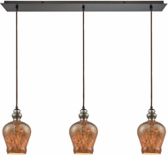 ELK 85100-3LP Sojourn Modern Oil Rubbed Bronze Multi Hanging Pendant Light