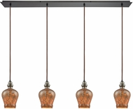 ELK 85100-4LP Sojourn Contemporary Oil Rubbed Bronze Multi Pendant Hanging Light