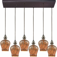 ELK 85100-6RC Sojourn Modern Oil Rubbed Bronze Multi Hanging Light Fixture