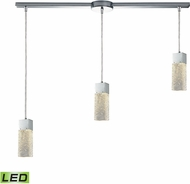 ELK 85107-3L-LED Cubic Ice Modern Polished Chrome LED Multi Drop Ceiling Lighting