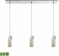 ELK 85107-3LP-LED Cubic Ice Contemporary Polished Chrome LED Multi Ceiling Light Pendant