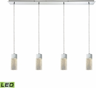 ELK 85107-4LP-LED Cubic Ice Modern Polished Chrome LED Multi Ceiling Pendant Light