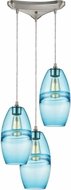 ELK 85241-3 Melvin Contemporary Satin Nickel Multi Drop Lighting Fixture