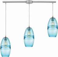 ELK 85241-3L Melvin Modern Satin Nickel Multi Pendant Lighting