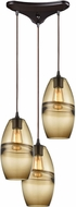 ELK 85251-3 Melvin Modern Oil Rubbed Bronze Multi Lighting Pendant