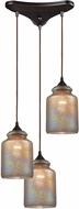 ELK 85257-3 Illuminessence Modern Oil Rubbed Bronze Multi Hanging Pendant Lighting