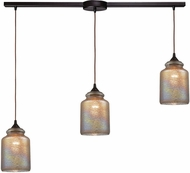 ELK 85257-3L Illuminessence Contemporary Oil Rubbed Bronze Multi Hanging Pendant Light