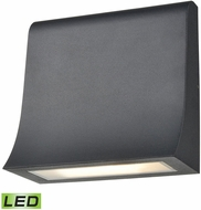 ELK 88100-LED Sabrina Contemporary Charcoal LED Outdoor Wall Lighting Fixture