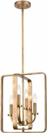 ELK 89044-4 Erindale Modern Natural Brass Hanging Pendant Lighting