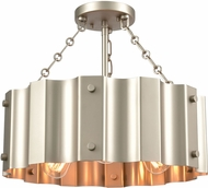 ELK 89056-3 Clausten Modern Matte Nickel 17  Pendant Hanging Light