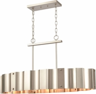 ELK 89058-4 Clausten Contemporary Matte Nickel Kitchen Island Light Fixture