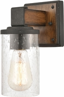 ELK 89130-1 Crenshaw Contemporary Ballard Wood / Distressed Black Wall Mounted Lamp