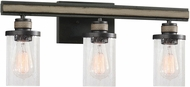 ELK 89154-3 Beaufort Modern Anvil Iron / Distressed Antique Graywood 3-Light Bath Lighting