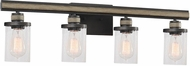 ELK 89155-4 Beaufort Contemporary Anvil Iron / Distressed Antique Graywood 4-Light Bathroom Light