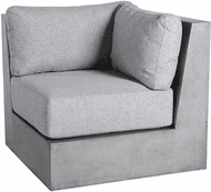 ELK Home 157-050CUSHIONS/S3 Contemporary Gray Outdoor Sofa Cushions for Corner Unit (set of 3)