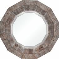 ELK Home 3116-035 Loggerhead Salvaged Grey Oak / German Silver Wall Mirror