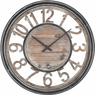 ELK Home 3116-039 Strayhorn Salvaged Grey Oak / Black Wall Clock