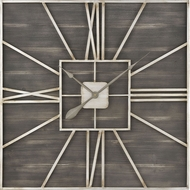 ELK Home 3138-513 Jay Park Grey / Silver / Brown Wall Mounted Clock