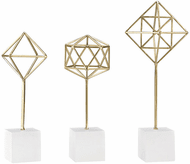 ELK Home 3200-094/S3 Theorem Modern Gold Decorative Stands (set of 3)